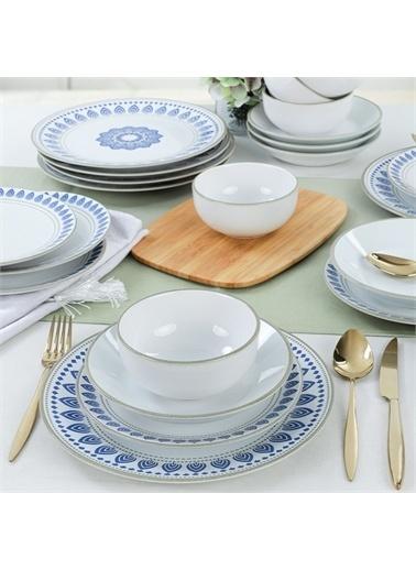 Keramika Blue Circle Yemek Takımı 6 Kişilik 24 Parça - 19870 Renkli